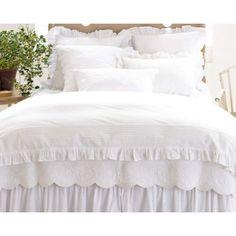 King Duvet Cover Sets, Full Duvet Cover, White Duvet Covers, White Bed Skirt, Luxury Bedding Sets, Queen Duvet, White Bedding, Cotton Bedding, Bed Sheets
