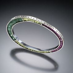 """Beaded bangle bracelet"" created by Susan Kinzig"
