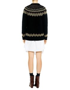 Red Valentino Nordic Lurex Sweater