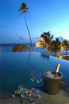 I feel like drinking champagne ~ Colette Le Mason @}-,-;--