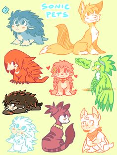 Sonic pets: Doodles by DiachanX on DeviantArt