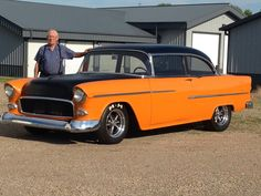 55 Chevy Belair Two Door Post.  Built by Eldwyn, Myron, Howard and Dan Van Bruggen.