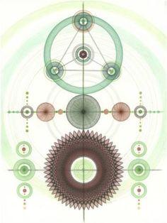 Crop Circles, geometric abstract artwork.