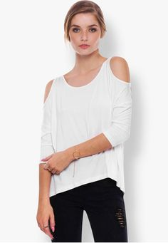 Basic Cold Shoulder Tee