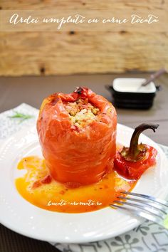 Peppers stuffed with minced meat.  Recipe available with translator.