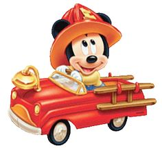 Baby Mickey Fire Truck- for Everett's shirt Disney Cartoon Characters, Disney Cartoons, Mickey Mouse And Friends, Mickey Minnie Mouse, Cute Disney, Disney Art, Mini Y Mickey, Mickey Mouse Imagenes, Disney Colors