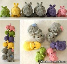 Mesmerizing Crochet an Amigurumi Rabbit Ideas. Lovely Crochet an Amigurumi Rabbit Ideas. Crochet Hippo, Crochet Amigurumi, Knit Or Crochet, Amigurumi Patterns, Crochet Crafts, Crochet Dolls, Yarn Crafts, Crochet Baby, Crochet Patterns