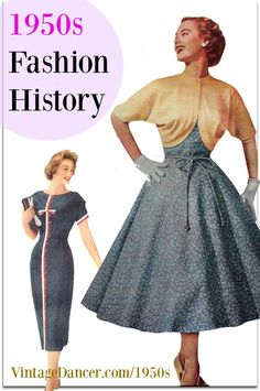 afcc41be1c 1950s Fashion History  Women s Clothing. The silhouette of a tulle skirt is  the same