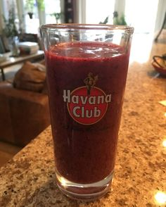 Cuba is still on my mind!! No rum this morning but my berry smoothie in one of my souvenir glasses is bringing the memories back
