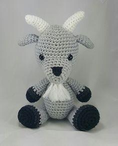 Amigurumi Crochet Goat Stuffed Animal pattern by Happy Hook Designs. #crochet…
