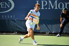 Richard Gasquet (FRA)[13] plays Albert Montanes (ESP) in a first-round match at the US Open. - Andrew Ong/USTA