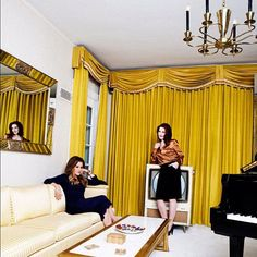 Lisa Marie and Priscilla Presley inside Graceland