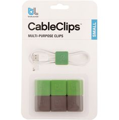 CableClips are multi-purpose clips keep all sizes of cables tidy and untangled. Quick to fasten, they will hold your cables in a convenient & compact bundle. CableClip easily allows you to shorten a cable while in use, making any work station manageable. Includes a set of 6 clips in small size are Ideal for short or thin cords such as earbud cords, small data cables and charger cords.
