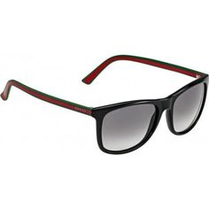 ae4d1bd4e7a5e Gucci 1055s 51NVK Black Green Red Gg1055s Black Rectangle Sunglasses Le     Check this awesome