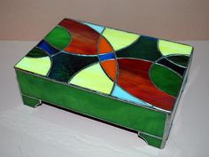 Abstract Box (Closed) by Wesleys Glass/Mosaics, via Flickr