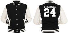 Stilinski 24 College Jacke Girls Teen Wolf Vampire Werwolf Dylan O`Brien Moon | eBay