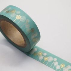 Washi Tape Roll Adhesive Stickers WT447 - Dandelion Flower
