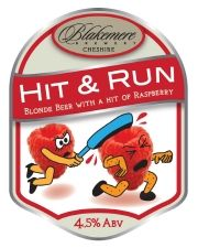 Blakemere Brewery - Hit & Run - Blond beer with raspberry Brewery, Blond, Raspberry, British, Amp, Running, Fruit, Flower, Drinks
