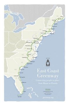 eastcoast greenway route map