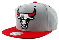 c0b3e3d9fc01a Chicago Bulls Hat SPECIAL Custom Undervisor Authentic NBA Mitchell   Ness  XL Logo Snapback Cap Gray   Red Basketball Cap Adult One Size Unisex Men    Women ...