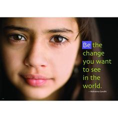 BE THE CHANGE LP LARGE POSTERS | Honor Roll Childcare Supply