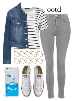 """""""set."""" by vintagecoutures ❤ liked on Polyvore featuring Topshop, Zara, Converse, ASOS, Skinnydip and ootd"""