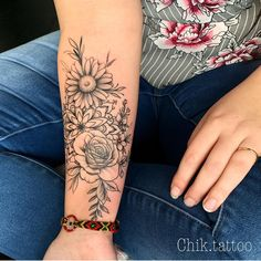 The Most Beautiful Flower Tattoo Designs Tattoos .- Die schönsten Blumen Tattoo Designs Tattoos – flower tattoos designs 100 The Most Beautiful Flower Tattoo Designs Tattoos - Flower Sleeve, Flower Tattoo Arm, Flower Tattoo Designs, Floral Arm Tattoo, Flower Tattoo Women, Henna Designs, Sunflower Tattoo Sleeve, Rose Sleeve, Tattoo Hand