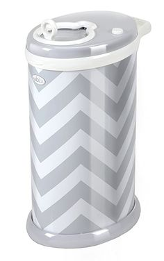 UBBI Steel Odor Locking, No Special Bag Required Money Saving, Awards-Winning, Modern Design Registry Must-Have Diaper Pail, Gray Chevron: Baby Clothes Design. The Ubbi diaper pail won NINE awards proving parents and experts approval. Diaper Genie, Diaper Pail, Modern Decor, Modern Design, Puppy Pads, Newborn Diapers, Nursery Accessories, Grey Chevron, Gray