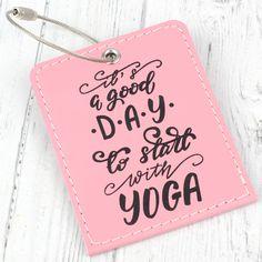 Leather Yoga Bag Tag - Grey