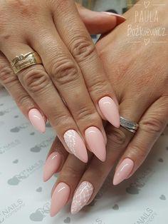 Pale Pink Nails, Rose Nails, Bridal Nails, Wedding Nails, Sparkle Nails, Fun Nails, Nail Time, Manicure E Pedicure, Types Of Nails