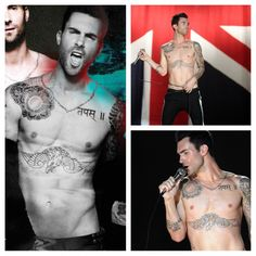 Little-known biblical FACT: The Adam that God hath made from Earth and clay in Genesis is actually Adam Levine.The evidence: Like a man who never left the Garden of Eden, he's hardly ever wearing clothes. Adam Levine, Guys Be Like, People Photography, Celebs, Celebrities, Sexy, Hot Guys, Beautiful People, Eye Candy