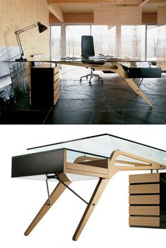 Writing #desk with drawers CAVOUR by @Zanotta  | #design Carlo Mollino #interiors
