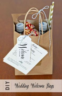 Wedding Gifts For Guests Welcome bags we made for our Phoenix, AZ wedding in April