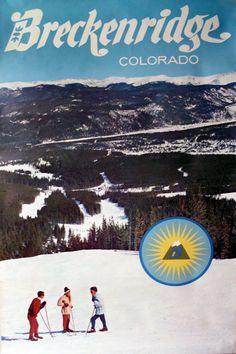 Two Vintage 60's Breckenridge Colorado Ski Resort Posters by PoorLittleRobin, $45.00
