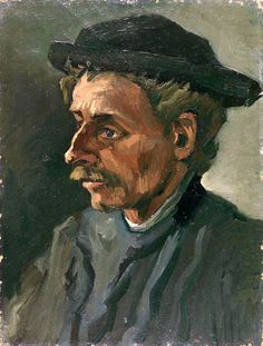 The Athenaeum - Head of a Peasant with Hat (Vincent van Gogh) 1885