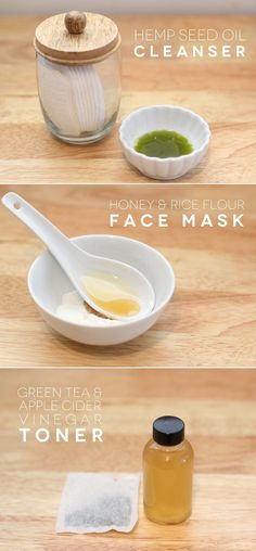 All natural beauty routine for sensitive and acne prone skin.