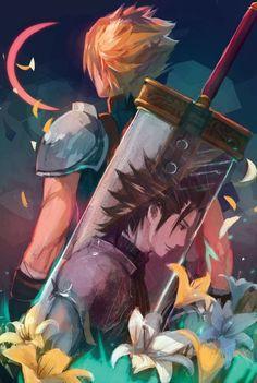 Final Fantasy Vii Remake, Final Fantasy Vii Cloud, Artwork Final Fantasy, Gothic Fantasy Art, Final Fantasy Characters, Fantasy Kunst, Final Fantasy Crisis Core, Medieval Fantasy, Final Fantasy Anime