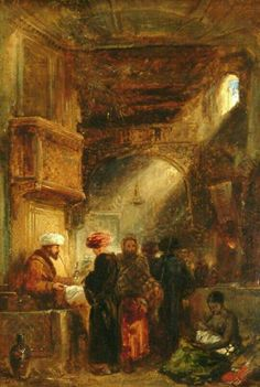 Opium stall by William James Müller (1812-1845)