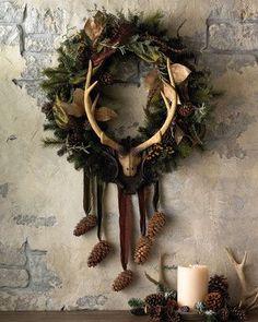 LOVE!!! Yule wreath idea!                                                                                                                                                                                 More