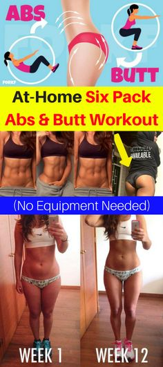 At-Home Six Pack Abs & Butt Workout (No Equipment Needed) – Healthy National