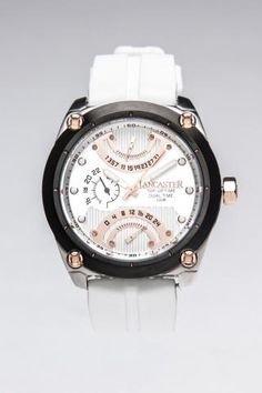 Lancaster Top Up With Rose Gold Plated Oversized Watch