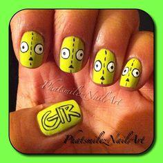 •Nail Design: Invader Zim-Gir•
