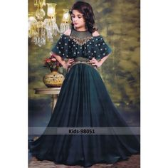 98058 Wine Malai Satin Embroidered Kids Gown Festive Formal Fashion Fancy Look Stylish Party Wear Designer Children Collection Attractive Gown Wholesale Supplier from Surat in Best Lowest Price only @ INR Gowns For Girls, Frocks For Girls, Little Girl Dresses, Girls Dresses, Prom Dresses, Girls Frock Design, Baby Dress Design, Kids Frocks Design, Kids Lehanga Design
