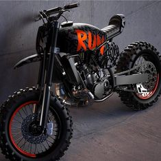 The Kyza inspired scrambler concept from the ever-talented Can't wait to see this thing. Tracker Motorcycle, Scrambler Motorcycle, Moto Bike, Motorcycle Design, Bike Design, Honda Motorcycles, Custom Motorcycles, Custom Bikes, Vintage Motorcycles