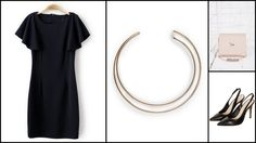 Dress : Sheinside / Necklace : Mango / Clutch : Urban Outfitters / Shoes : Topshop Urban Outfitters Shoes, Short Sleeve Dresses, Dresses With Sleeves, Mango Fashion, Topshop, Sleeve Dresses, Gowns With Sleeves