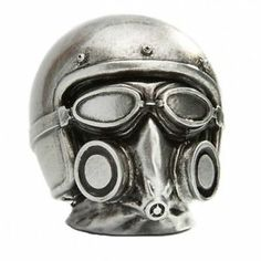 Gasmask Helmet Chrome Gearstick Resin Gear Knob Stick Hotrod Ford GM Mercury | eBay