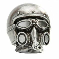 Gasmask Helmet Chrome Gearstick Resin Gear Knob Stick Hotrod Ford GM Mercury   eBay