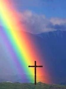 cross at the end of the rainbow pinned with #Bazaart - www.bazaart.me