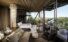 situated in the Kruger National Park, Singita Lebombo is a luxury design safari lodge. Singita Lebombo Lodge in South Africa offers stylish modern suites. Contemporary Furniture, Luxury Furniture, Outdoor Furniture Sets, Contemporary Design, Cheap Furniture, Cabana, Estilo Colonial, African Interior Design, Game Lodge