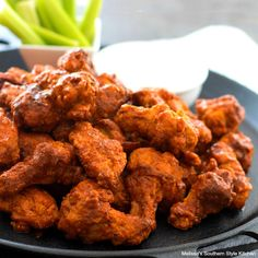 This easy Baked Buffalo Wings Recipe will show you how to skip the fuss of frying and still enjoy classic buffalo wings baked crisp and golden in the oven. Honey Recipes, Rib Recipes, Easy Chicken Recipes, Dinner Recipes, Cooking Recipes, Dinner Ideas, Appetizer Sandwiches, Appetizers, Baked Buffalo Wings